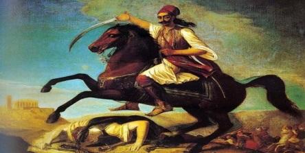 Ο Γεώργιος Καραϊσκάκης στη μάχη του Καρβασαρά