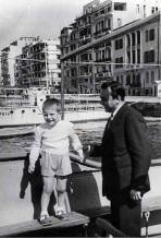 Με τον πατέρα του, Κωνσταντίνο Σιδηρόπουλο στη Θεσσαλονίκη