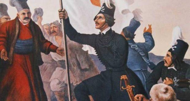 Οι επαναστάτες του Αλέξανδρου Υψηλάντη εισέρχονται στο Βουκουρέστι. «Και εις τα πύλας του Βυζαντίου» του εύχονται οι παριστάμενοι στη Δοξολογία.