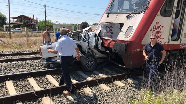 Διαβατά: Νεκρή έγκυος γυναίκα μετά τη σύγκρουση τρένου με αυτοκίνητο.