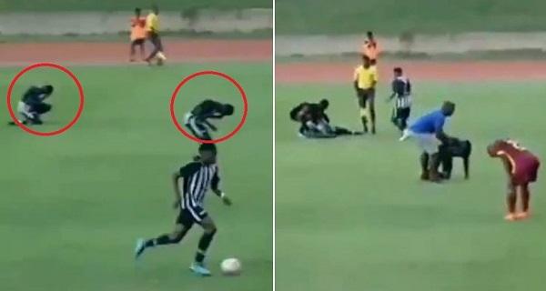 Νεαροί ποδοσφαιριστές χτυπήθηκαν από κεραυνό! Ανατριχιαστικό βίντεο