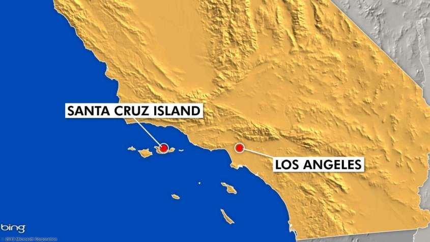 map ca los angeles santa cruz island