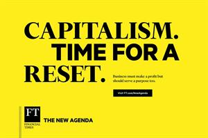 newagenda The Financial Times has come up with a shiny new brand campaign called The New Agenda that launches today with a bright yellow banner stating Capitalism Time for a Reset then in smaller type (2)