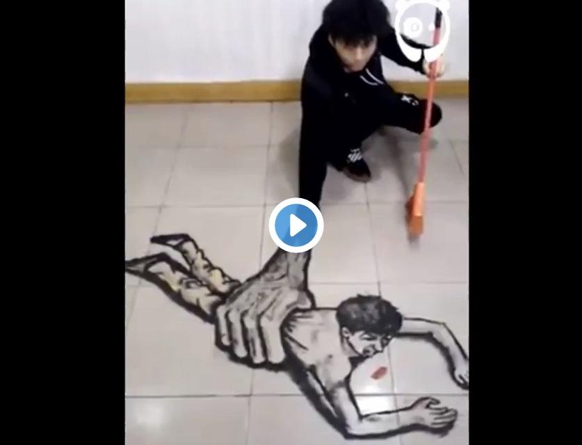 Αυτό το βίντεο πρέπει να το δεις. Η οφθαλμαπάτη σε άλλο επίπεδο.