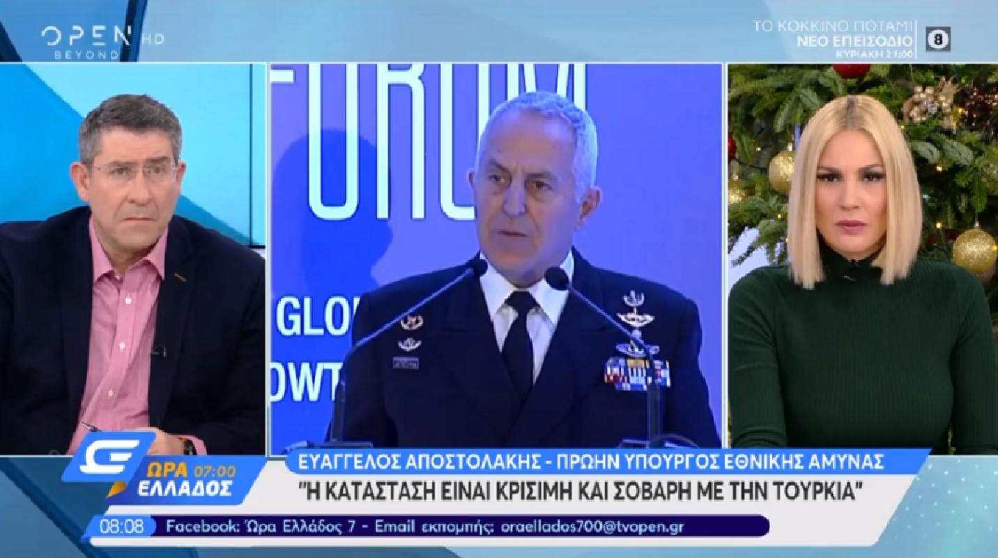 Ευάγγελος Αποστολάκης: Σοβαρή και κρίσιμη η κατάσταση με την Τουρκία [video]