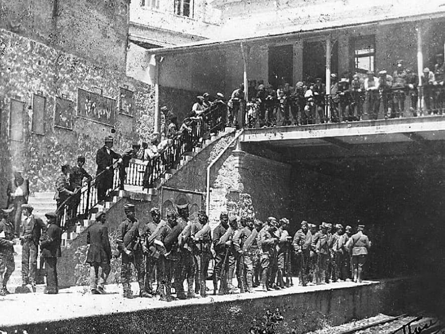 Σταθμός ΗΣΑΠ Μοναστηράκι Έτος 1915