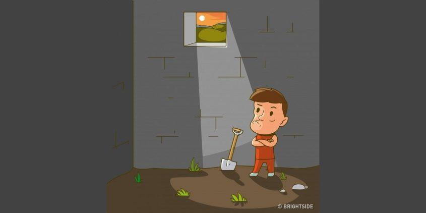 Αποτέλεσμα εικόνας για Γρίφος: Μπορείς να βρεις το πως θα αποδράσει αυτός ο κρατούμενος;