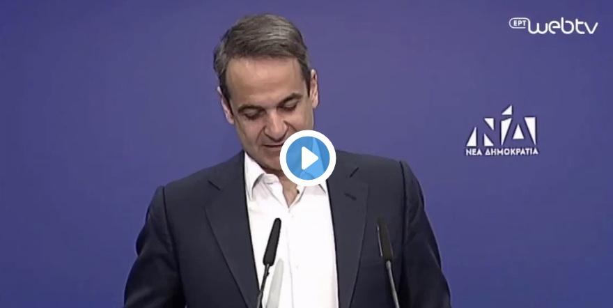 Η γκριμάτσα του Αντώνη Σαμαρά στην ομιλία του Πρωθυπουργού.