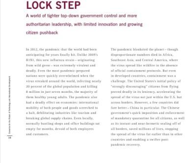 GBN Rockefeller Scenarios on Technology Development1