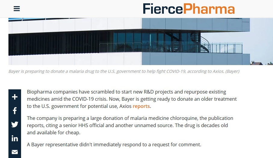Screenshot_2020-03-18 Bayer preps U S donation of malaria med chloroquine to help in COVID-19 fight report(1)