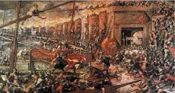 Πολιορκία και Άλωση της Κωνσταντινούπολης τον Απρίλιο του 1204. Τέταρτη Σταυροφορία