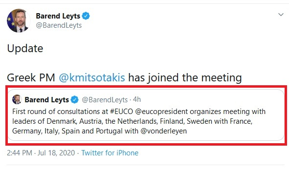 Screenshot_2020-07-18 Barend Leyts on Twitter Update Greek PM kmitsotakis has joined the meeting Twitter