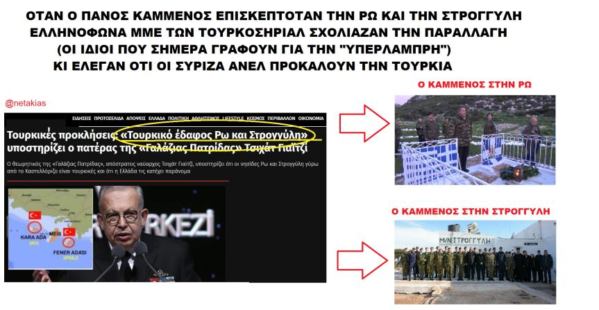 Όταν ο Πάνος Καμμένος επισκεπτόταν Ρω και Στρογγύλη κάποιοι ελληνόφωνοι ειρωνεύονταν το μπουφάν παραλλαγής και έλεγαν ότι προκαλεί τηνΤουρκία