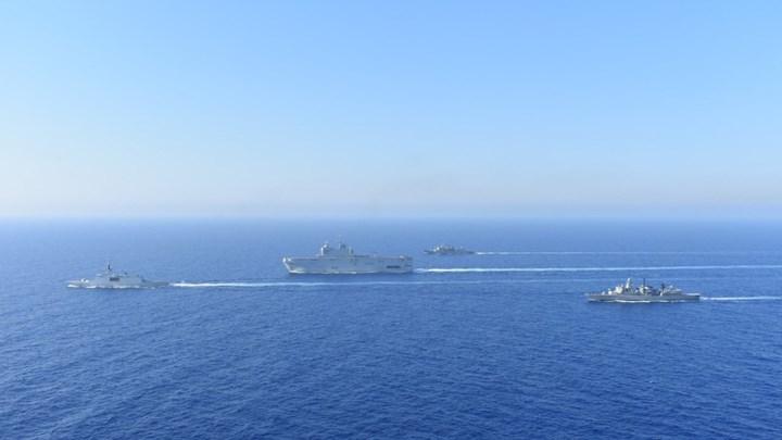Ναυτική άσκηση Ελλάδας-Γαλλίας στην περιοχή της παράνομης Τουρκικής Navtex στέλνει ηχηρο μήνυμα στην Τουρκια. Βίντεο.