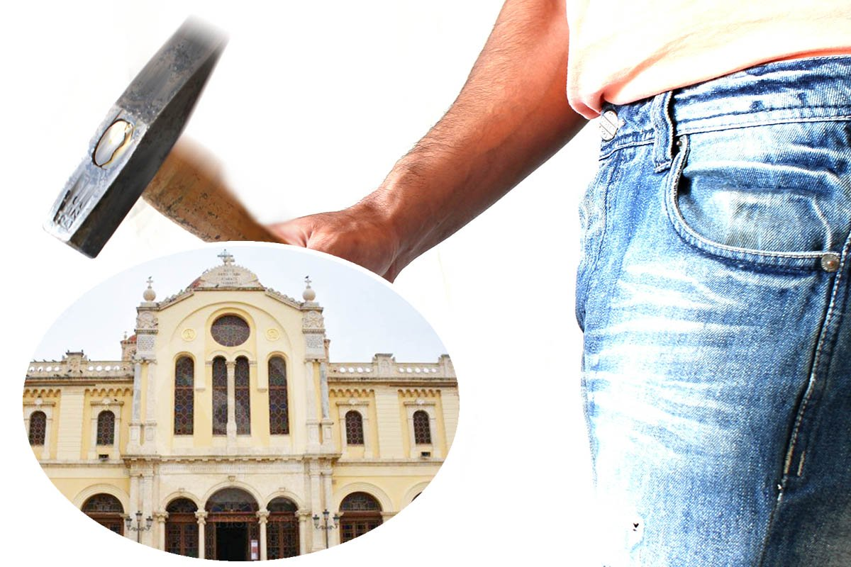 Αλγερινός Ισλαμοφασίστας με σφυρί «τα έκανε λαμπόγιαλο» στον Ι.Ν. του Αγίου Μηνά, προστάτη του Ηρακλείου.